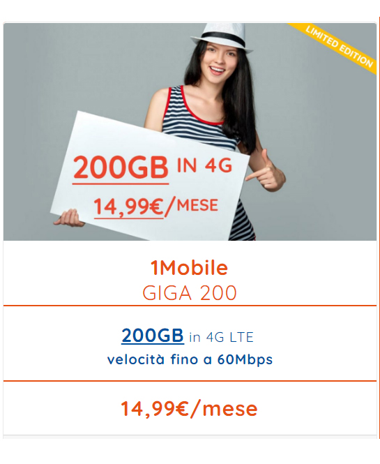 giga 200 offerta solo internet